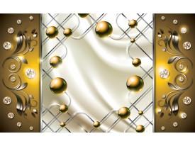 Fotobehang Modern, Slaapkamer | Zilver, Goud | 312x219cm