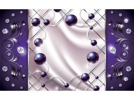 Fotobehang Modern, Slaapkamer | Zilver, Paars | 208x146cm