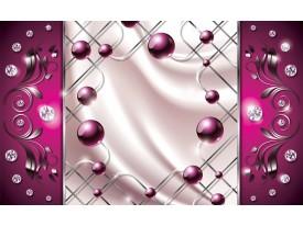 Fotobehang Vlies | Modern, Slaapkamer | Zilver, Roze | 368x254cm (bxh)