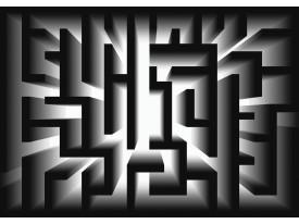 Fotobehang Design, Doolhof | Zwart | 152,5x104cm