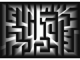 Fotobehang Vlies | Design, Doolhof | Zwart | 368x254cm (bxh)