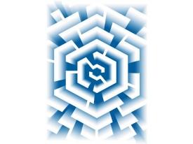 Fotobehang 3D, Design | Blauw | 206x275cm