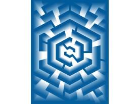 Fotobehang Design | Blauw | 206x275cm