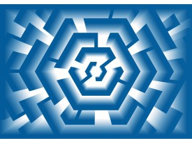 Fotobehang Vlies   Design   Blauw   368x254cm (bxh)