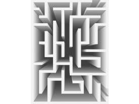 Fotobehang Papier 3D   Wit, Grijs   184x254cm