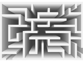 Fotobehang Design, Doolhof | Grijs | 152,5x104cm