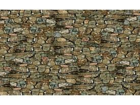 Fotobehang Papier Stenen, Muur   Groen   254x184cm