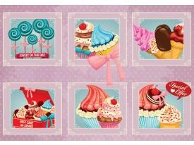 Fotobehang Vlies | Snoepjes | Roze, Blauw | 368x254cm (bxh)