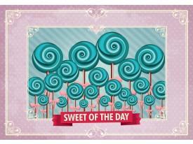 Fotobehang Snoepjes | Roze, Turquoise | 104x70,5cm