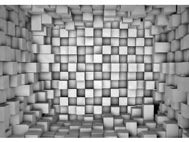 Fotobehang Vlies   3D   Grijs   368x254cm (bxh)
