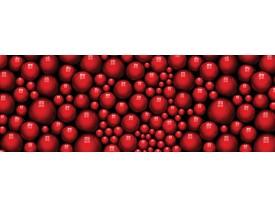 Fotobehang Vlies Modern | Rood, Zwart | GROOT 832x254cm