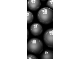 Fotobehang 3D | Zilver | 91x211cm