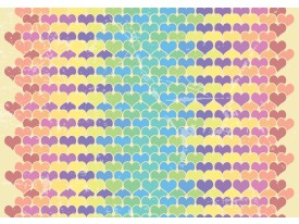 Fotobehang Vlies | Hartjes | Geel, Blauw | 368x254cm (bxh)