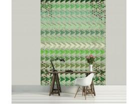 Fotobehang Papier Modern | Groen | 184x254cm