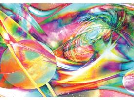 Fotobehang Vlies   Planeten, Abstract   Geel, Groen   368x254cm (bxh)