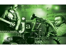 Fotobehang Muziek, Jazz | Groen | 416x254