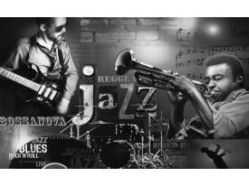Fotobehang Vlies | Muziek, Jazz | Zwart, Wit | 368x254cm (bxh)
