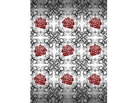 Fotobehang Papier Rozen | Grijs, Rood | 184x254cm