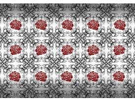 Fotobehang Vlies | Rozen, Bloemen | Grijs, Rood | 368x254cm (bxh)