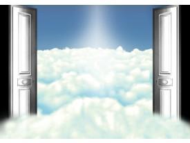 Fotobehang Vlies   Wolken   Blauw   368x254cm (bxh)