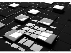 Fotobehang 3D | Zwart, Wit | 208x146cm