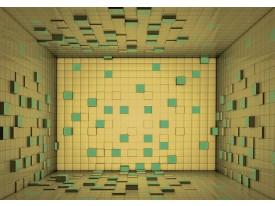 Fotobehang Vlies   3D   Geel, Groen   368x254cm (bxh)