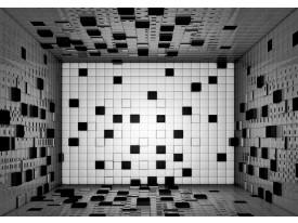 Fotobehang 3D | Grijs, Zwart | 152,5x104cm