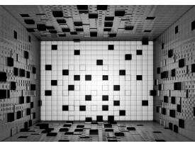 Fotobehang Vlies   3D   Grijs, Zwart   368x254cm (bxh)
