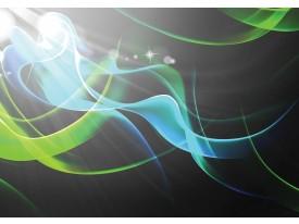Fotobehang Design | Grijs, Groen | 208x146cm