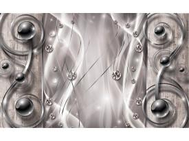 Fotobehang Vlies | Design, Modern | Zilver | 368x254cm (bxh)