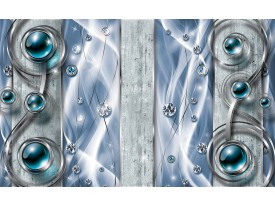 Fotobehang Papier Design, Modern | Blauw | 368x254cm
