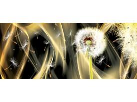 Fotobehang Paardenbloem, Abstract | Goud | 250x104cm
