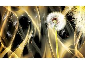 Fotobehang Paardenbloem, Abstract | Goud | 312x219cm