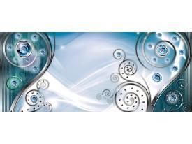 Fotobehang Design   Zilver, Turquoise   250x104cm