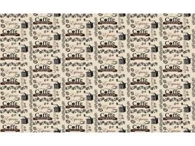 Fotobehang Papier Keuken, Koffie | Crème | 254x184cm