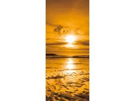 Deursticker Muursticker Zee | Goud | 91x211cm