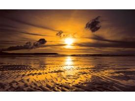 Fotobehang Zee, Zonsondergang | Bruin | 416x254