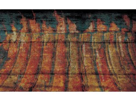 Fotobehang Papier Industrieel | Oranje | 254x184cm