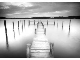 Fotobehang Brug, Natuur | Grijs | 208x146cm