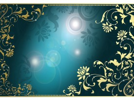 Fotobehang Klassiek   Turquoise   104x70,5cm