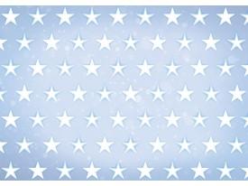 Fotobehang Papier Sterren | Blauw, Wit | 254x184cm