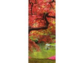 Fotobehang Natuur, Boom | Rood | 91x211cm