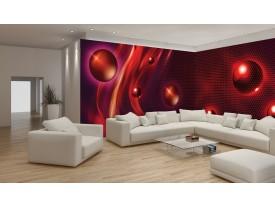 Fotobehang Vlies Design | Rood | GROOT 832x254cm