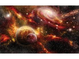 Fotobehang Papier Planeten | Oranje, Bruin | 368x254cm