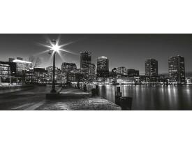 Fotobehang Skyline, Stad | Zwart, Grijs | 250x104cm