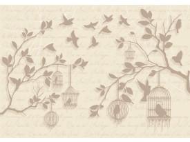 Fotobehang Papier Landelijk | Crème | 254x184cm