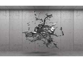 Fotobehang 3D, Design   Grijs, Zilver   312x219cm
