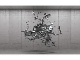 Fotobehang Vlies | 3D, Design | Grijs, Zilver | 368x254cm (bxh)