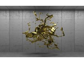 Fotobehang 3D, Design | Goud | 312x219cm