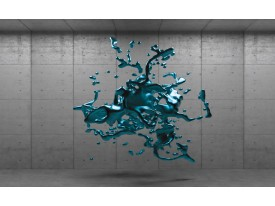 Fotobehang Vlies | 3D, Design | Turquoise | 368x254cm (bxh)